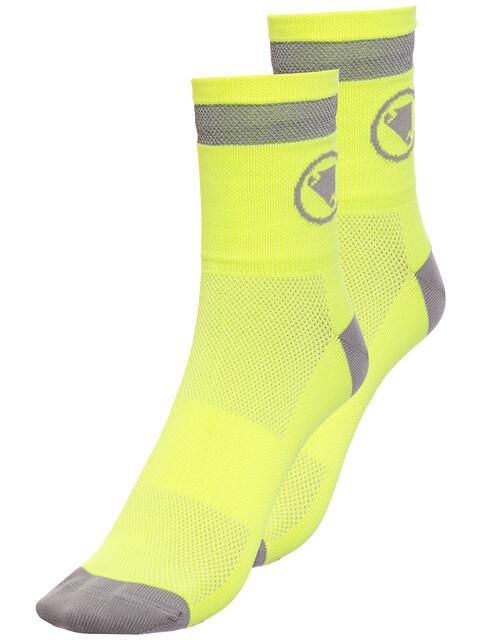 Endura Luminite Socks TwinPack hi-viz yellow/reflective